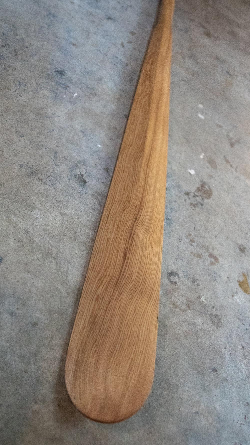 "Length 88"" | Loom 21"" |Blade Width 3 1/4""   Cedar | Oil Finish"