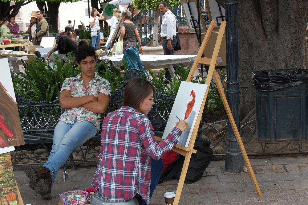 Artist in San Miguel, Mexico