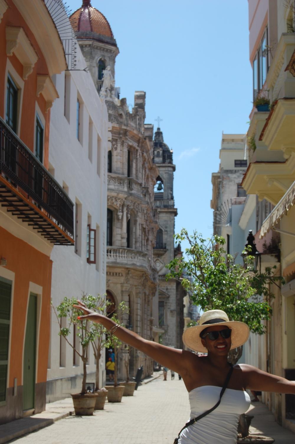 Cici on our trip to Havana