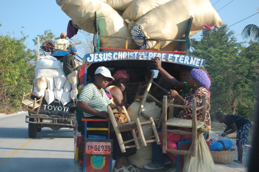 Women on their way to market in Pleasance, Haiti