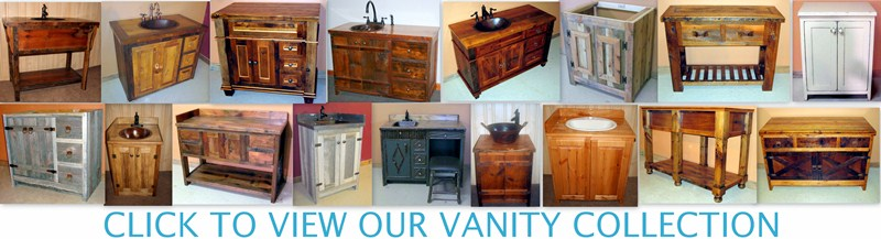 rustic bathroom vanities wood samples vanity page