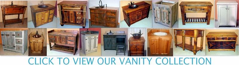 Barnwood Vanities, Rustic Log Bathroom Vanities