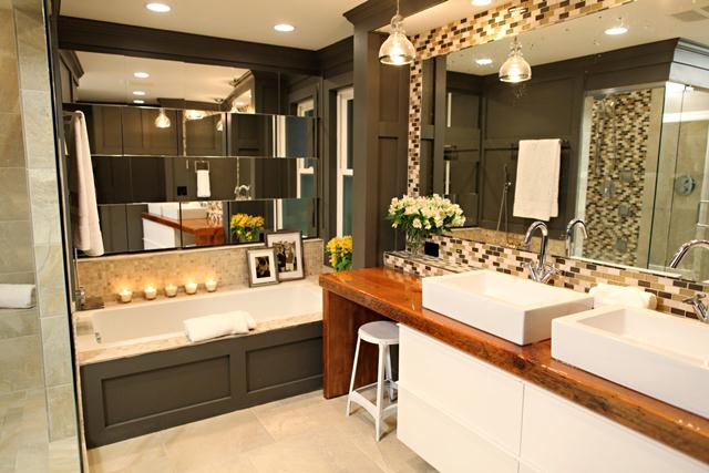 HGTV - Above photo shows our barnwood vanity in a season two episode of BathCrashers.