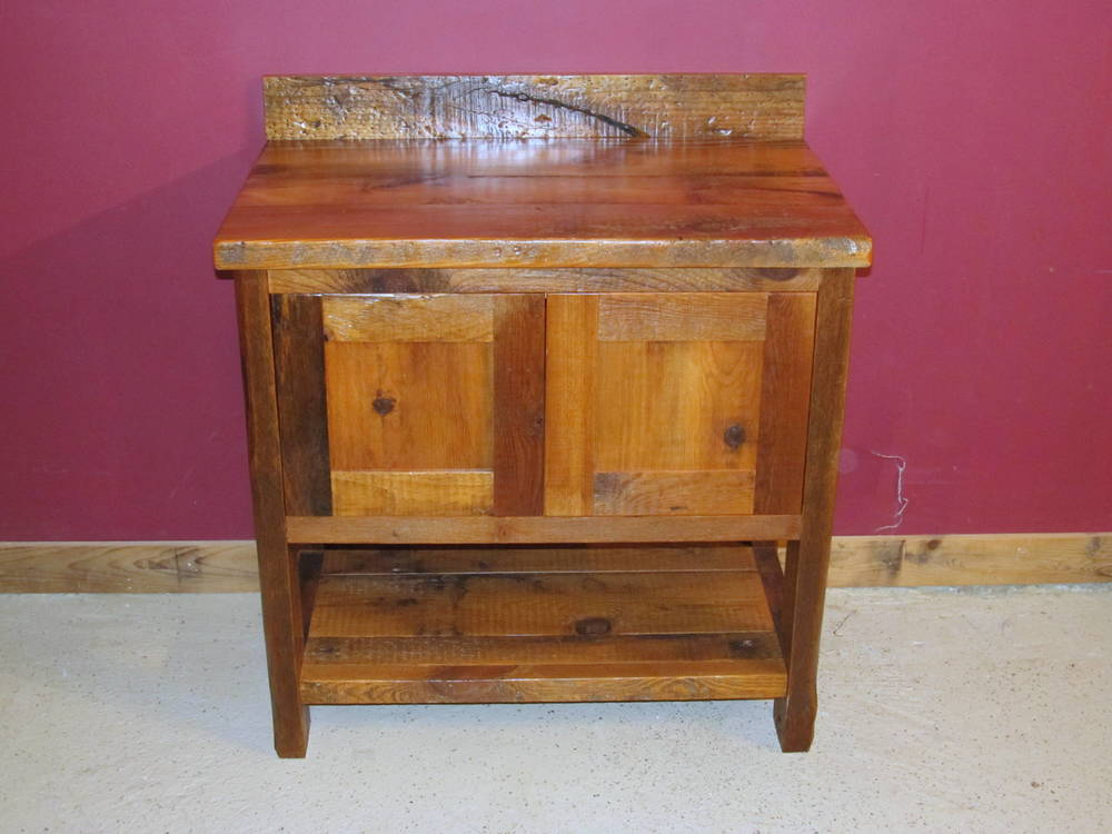 Minnesota Reclaimed Wood Vanity Barn Wood Furniture Rustic Furniture Log Furniture By