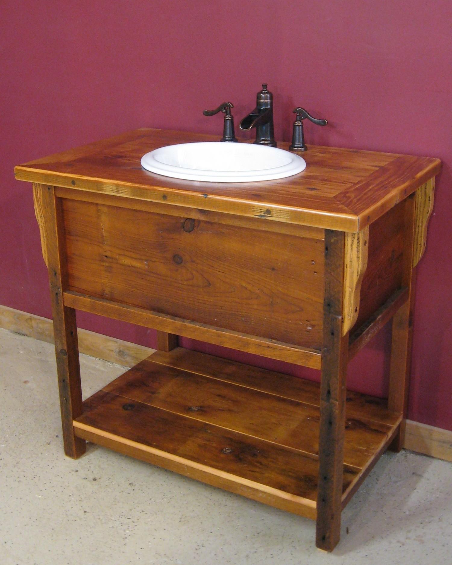 barn wood vintage vanity — barn wood furniture - rustic furniture