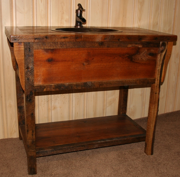 Barn Wood Vintage Vanity Barn Wood Furniture Rustic Furniture Log Furniture By Vienna