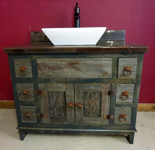 Antique Gray Vanity 3000003sm.jpg - Antique Gray Barnwood Vessel Vanity — Barn Wood Furniture - Rustic