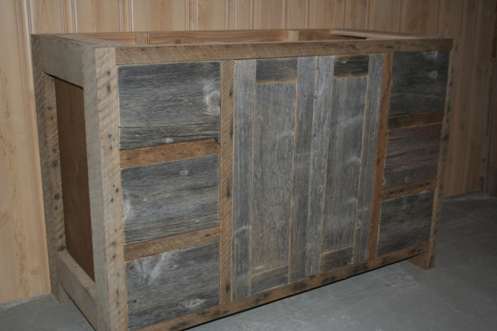 Weathered Gray Vanities Barn Wood Furniture Rustic Furniture Log Furniture By Vienna Woodworks