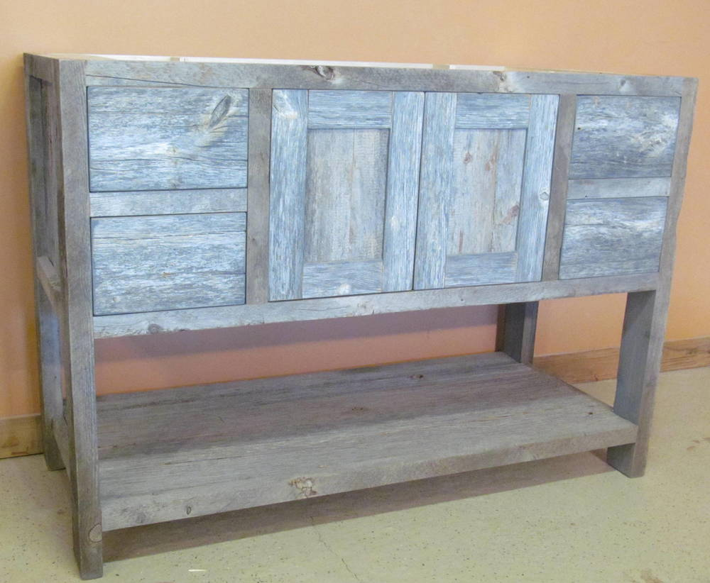 Weathered Gray Minnesota Reclaimed Wood Vanity