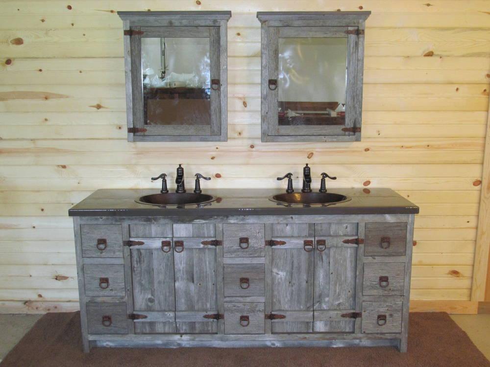 Batton Door Gray Barn Wood Vanity Barn Wood Furniture Rustic Furniture Log Furniture By
