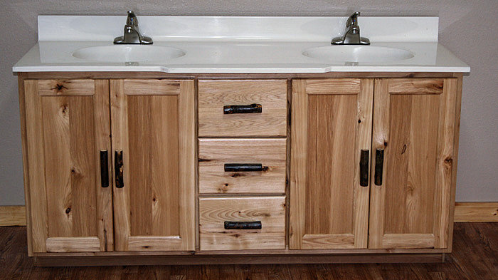 rustic hickory bathroom vanities made from knotty rustic hickory