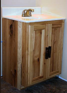 Rustic Hickory Vanity Barn Wood Furniture Rustic