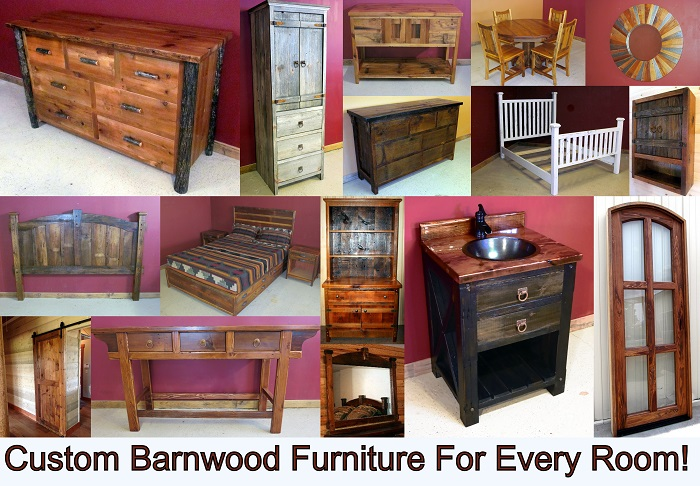 Barn Wood Furniture And Reclaimed Wood Furniture Custom Made In Minnesota.