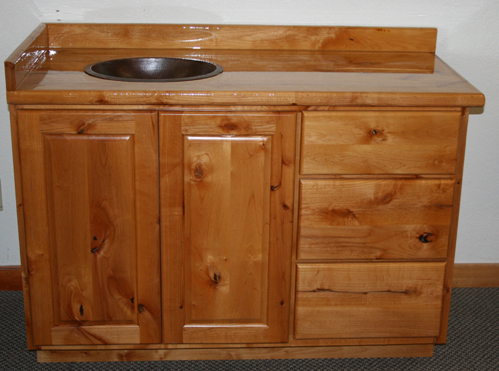 Rustic Alder Vanity Barn Wood Furniture Rustic