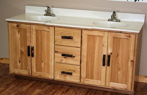 Rustic Hickory Vanity. Rustic Hickory Vanity   Barn Wood Furniture   Rustic Furniture
