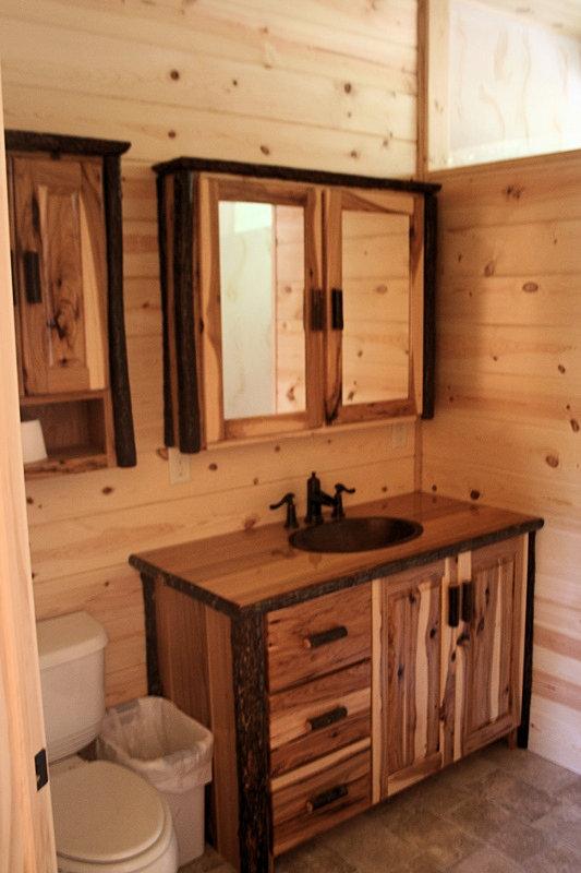 Nice Hickory Log Hickory Vanity
