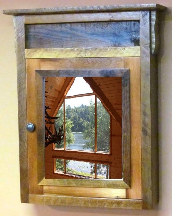 Barn Wood Vintage Medicine Cabinet 1