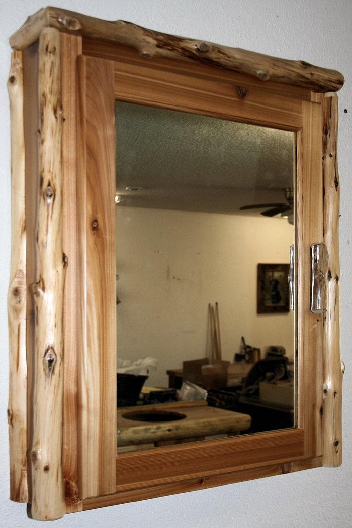 Log Medicine Cabinet