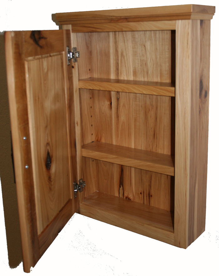 Rustic Hickory Medicine Cabinet Barn Wood Furniture