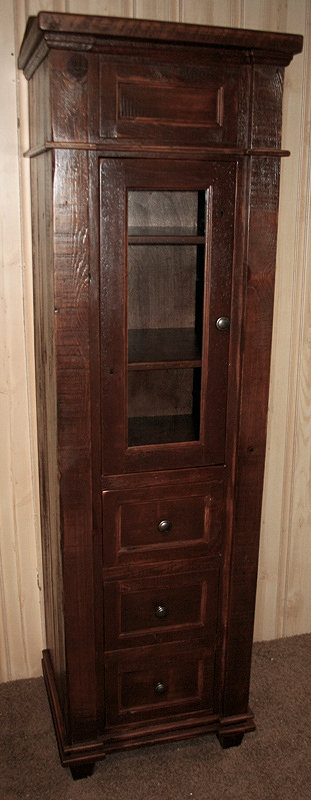 Antique Linen Closet Barn Wood Furniture Rustic