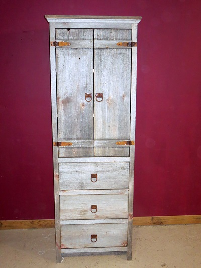 Weathered Gray Barnwood Linen Cabinet Barn Wood
