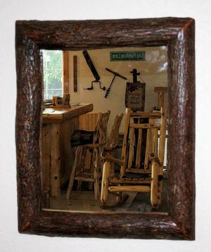 rustic bathroom mirrors. Hickory Log Mirror jpg Rustic Bathroom Mirrors  Barn Wood Furniture Barnwood