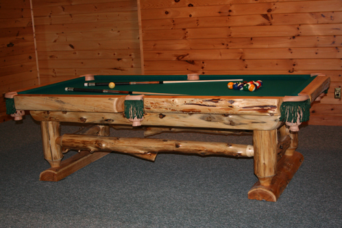 Awesome Log Pool Table Barn Wood Furniture Rustic Barnwood And Log Furniture By Vienna Woodworks Download Free Architecture Designs Licukmadebymaigaardcom