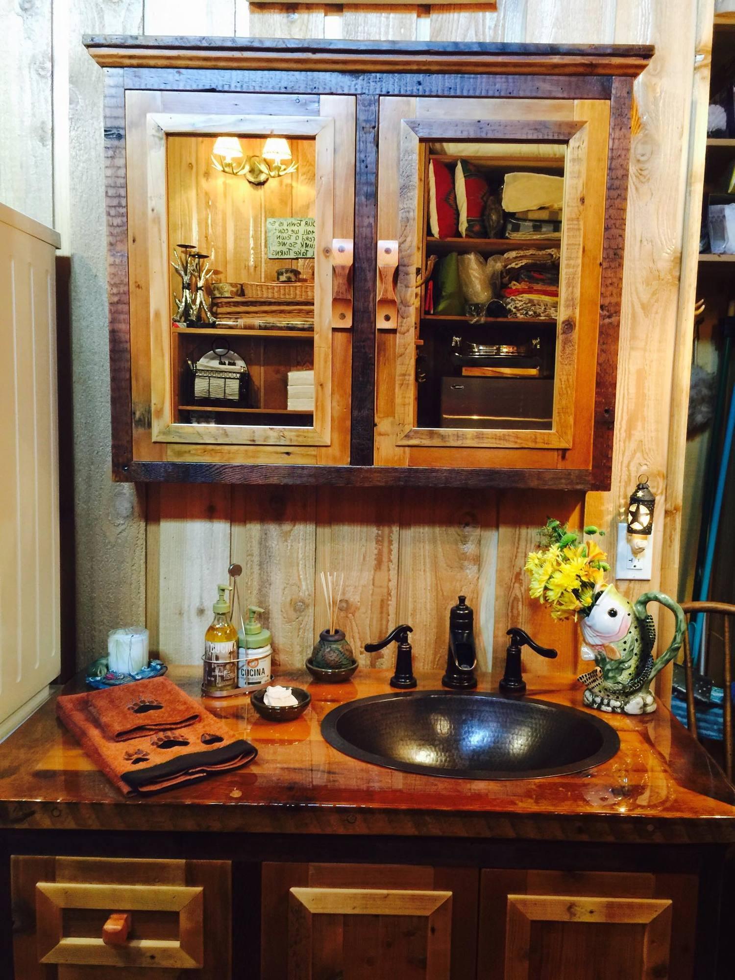 Custom Bathroom Vanities Denver rustic bathroom vanities — barn wood furniture - rustic barnwood