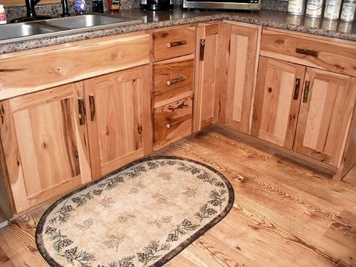 A Rustic Hickory Kitchen  Cabinets Custom Barn Wood Furniture