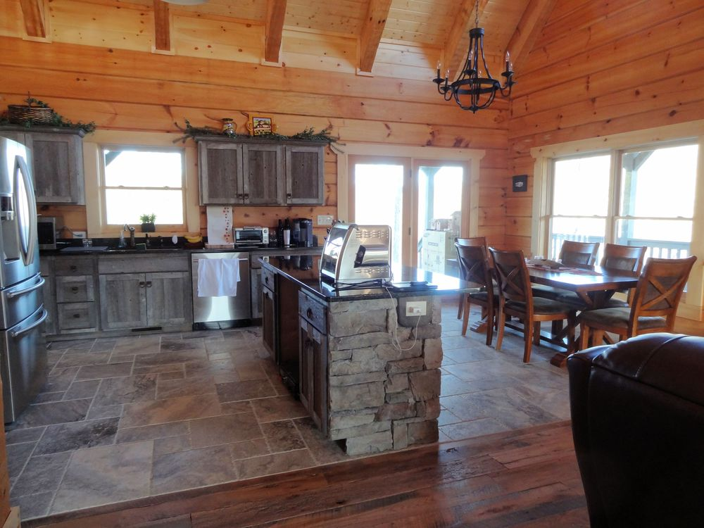 Gray Barnwood Kitchen Cabinets