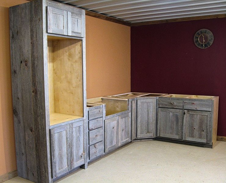 Weathered Gray Barn Wood Kitchen Barn Wood Furniture Rustic Barnwood And Log Furniture By