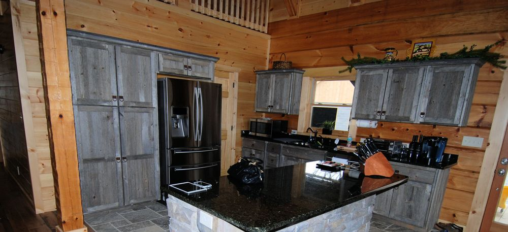 Gray Barnwood Reclaimed Wood Kitchen