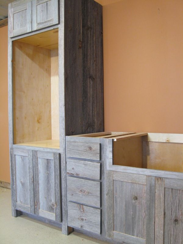 Weathered Gray Barn Wood Kitchen Barn Wood Furniture Rustic Furniture Log Furniture By
