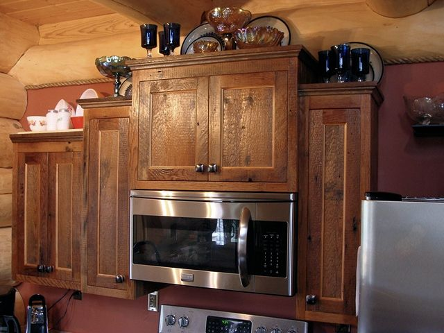 DSC02832 Web. Reclaimed Barnwood Kitchen Cabinets