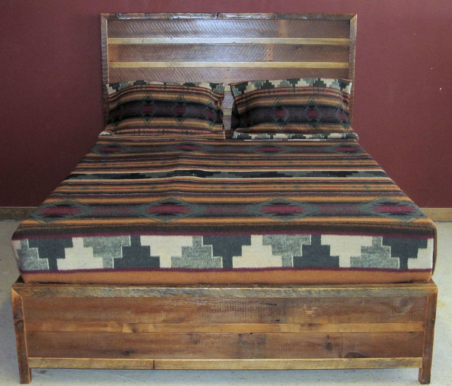 antique bed reclaimed rustic wood furniture barn burn barns