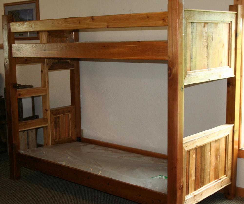 Barnwood Bunk Beds Barn Wood Furniture Rustic Barnwood And Log
