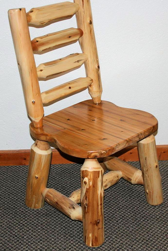 Cedar Log Ladder Back Chair