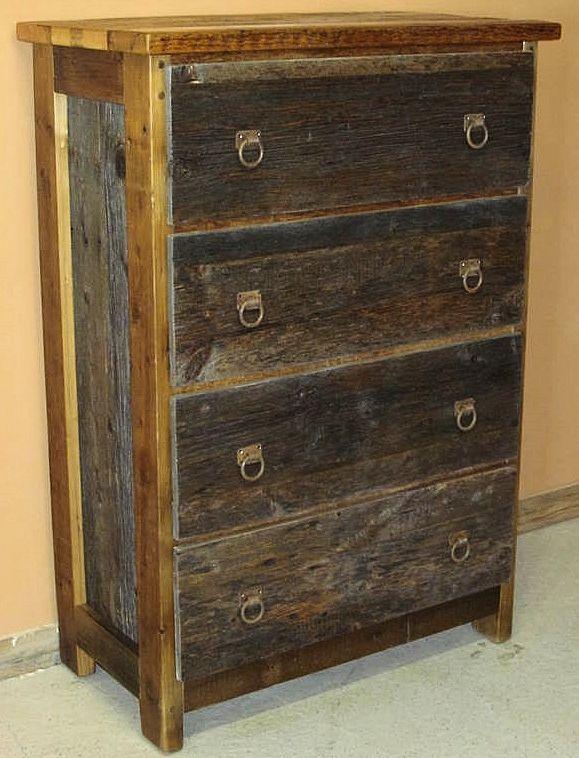 Beau Barnwood Dresser 4 Drawer Two Tone