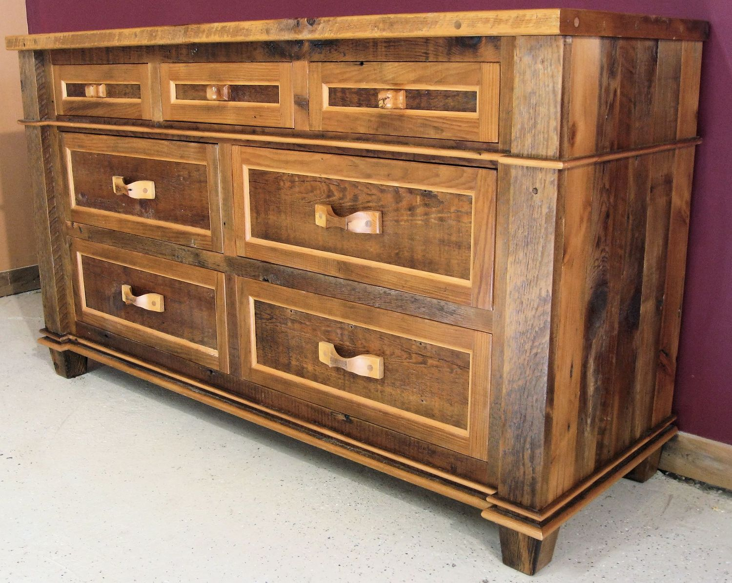 Famous Barnwood Dressers — Barn Wood Furniture - Rustic Barnwood and Log  JN35