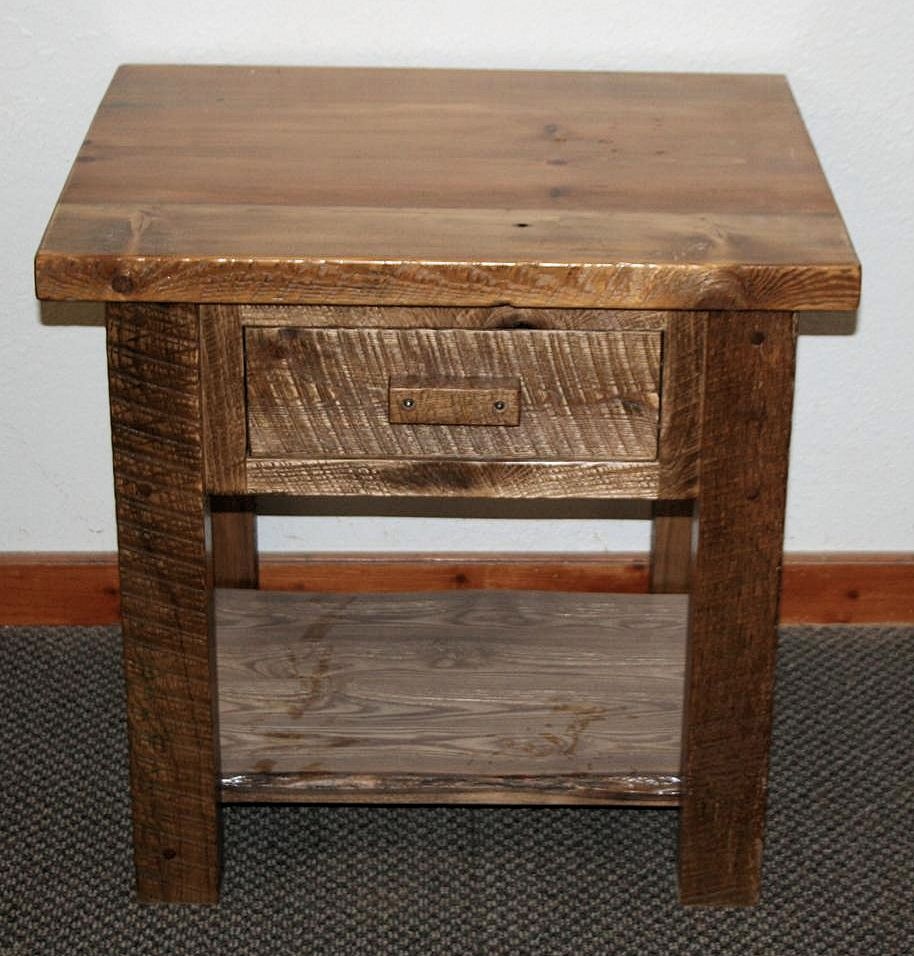 Exceptionnel Rough Cut Timber Ash Night Stand