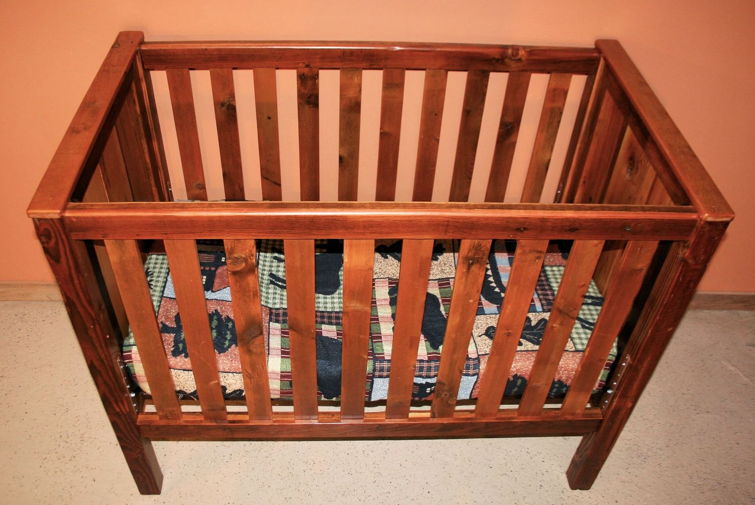 Baby cribs unfinished wood - Barnwood Baby Crib 2000004 Jpg