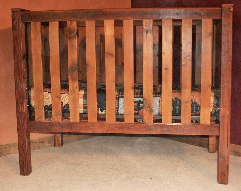 Charmant Barnwood Baby Crib 200003