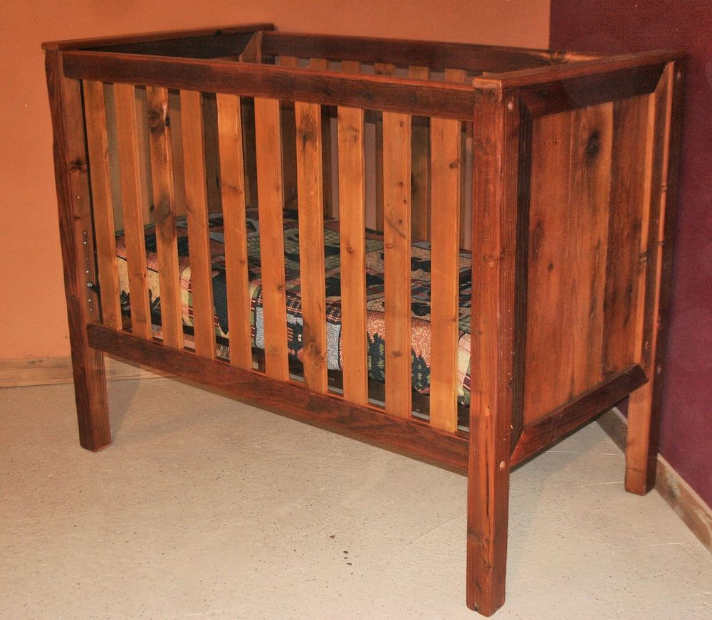 Barn wood baby crib standard barn wood furniture for Furniture barn