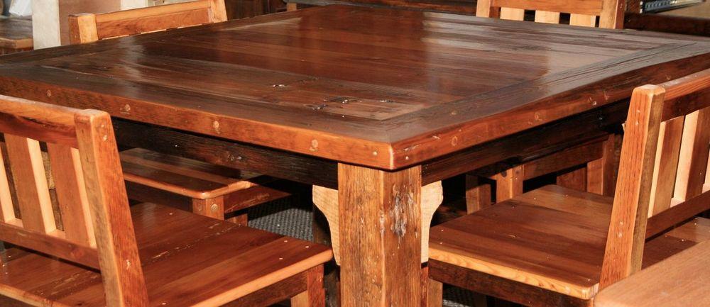 Reclaimed Wood Bar Furniture Barn Wood Furniture Rustic Barnwood - Barnwood bar table