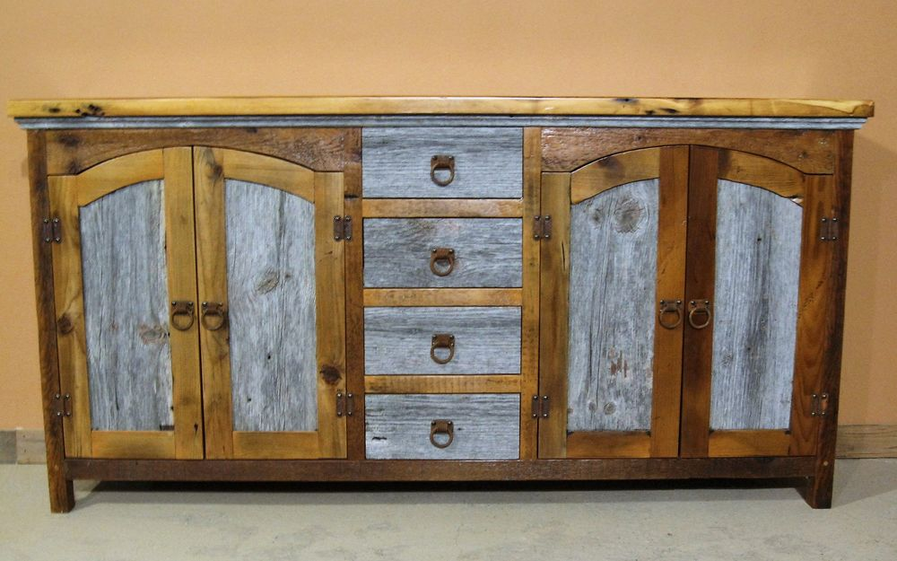 Barn Wood Buffet Table 5
