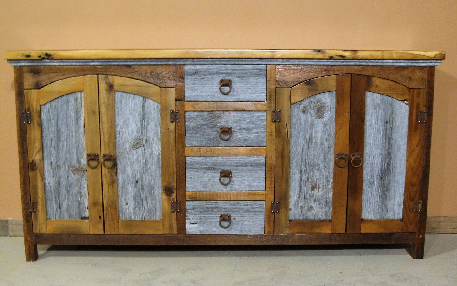 Rustic buffet table furniture - Barn Wood Buffet Table 5 Jpg