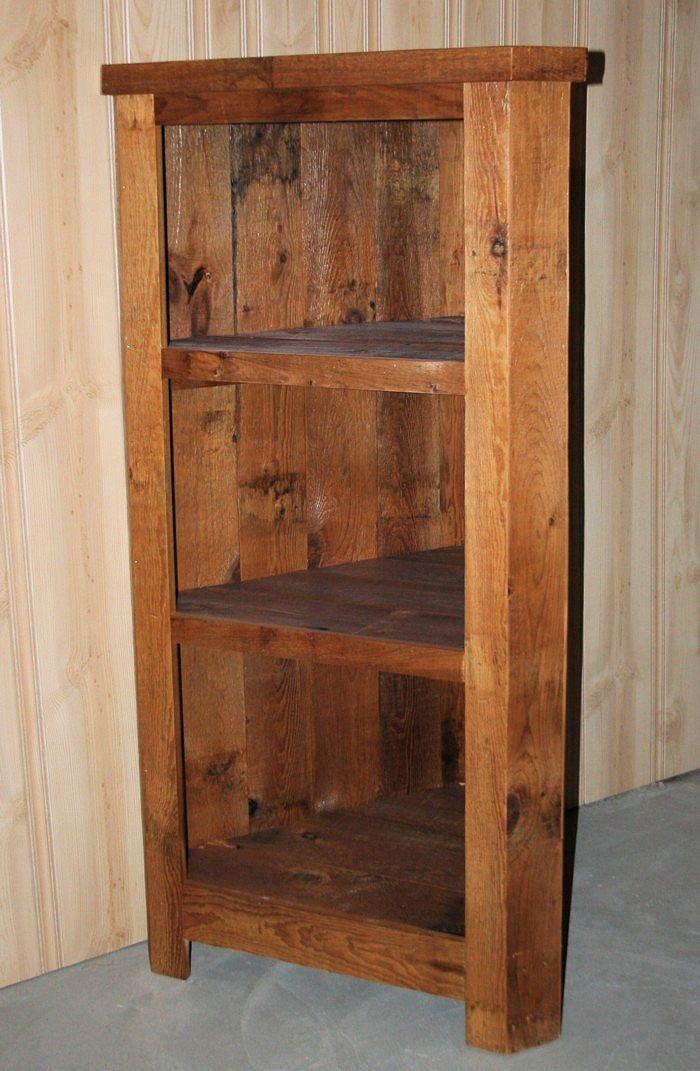 Charmant Barn Wood Corner Cabinet