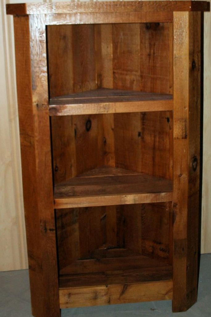 Barnwood Corner Cabinet Barn Wood Furniture Rustic