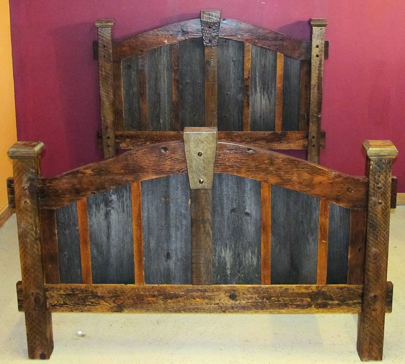 Bedroom — Barn Wood Furniture - Rustic Barnwood and Log Furniture ...