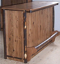 Cherry Bar With Hickory Trim Barn Wood Furniture